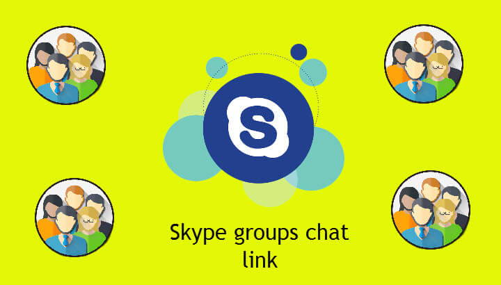 Join to Skype groups chat and link