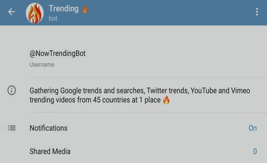 Trending bot