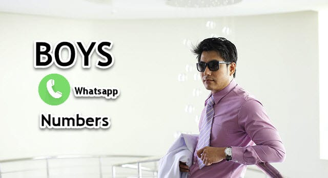 boys whatsapp numbers