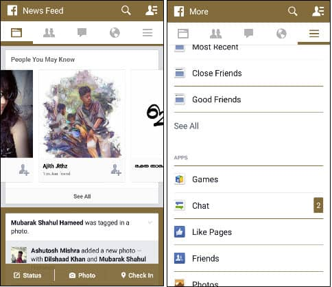 Facebook Gold Themes
