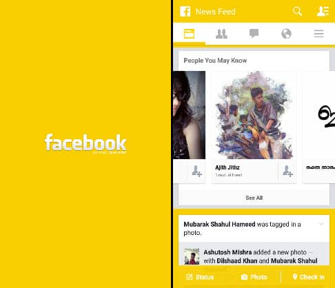 Facebook Yellow Themes