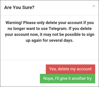 Delete Telegram  account Using Deactivation Page 3