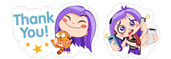 Violet Viber Sticker