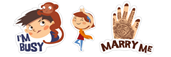Young love in India Viber stickers
