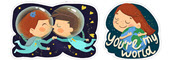 young love in space Viber stickers