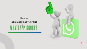 How to add more participant on whatsapp groups