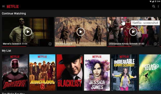 Netflix App For Android Tablet