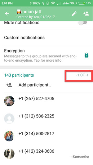 add more participants in Whatsapp group 5