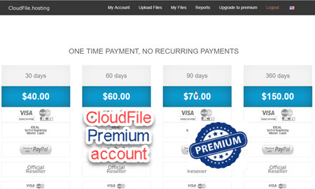 cloudfile premium account