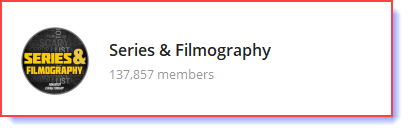 series and filmography
