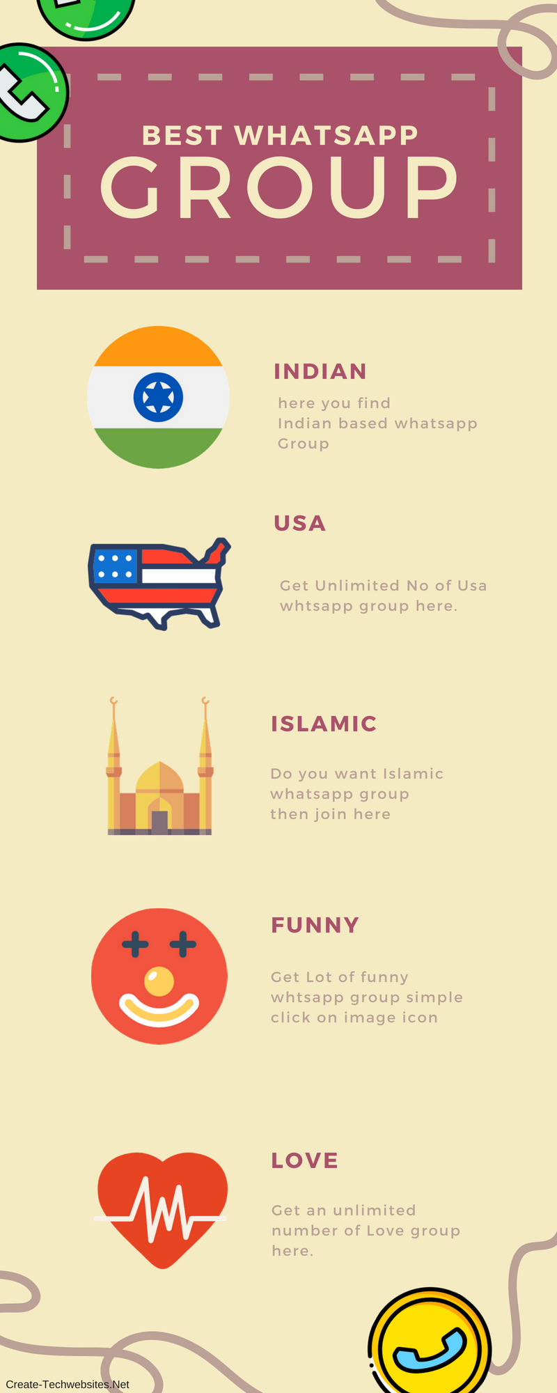 best whatsapp group link info-graphic