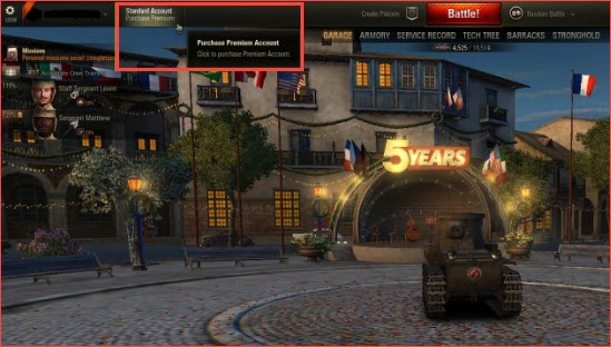World of Tanks Premium Account For Free step 1