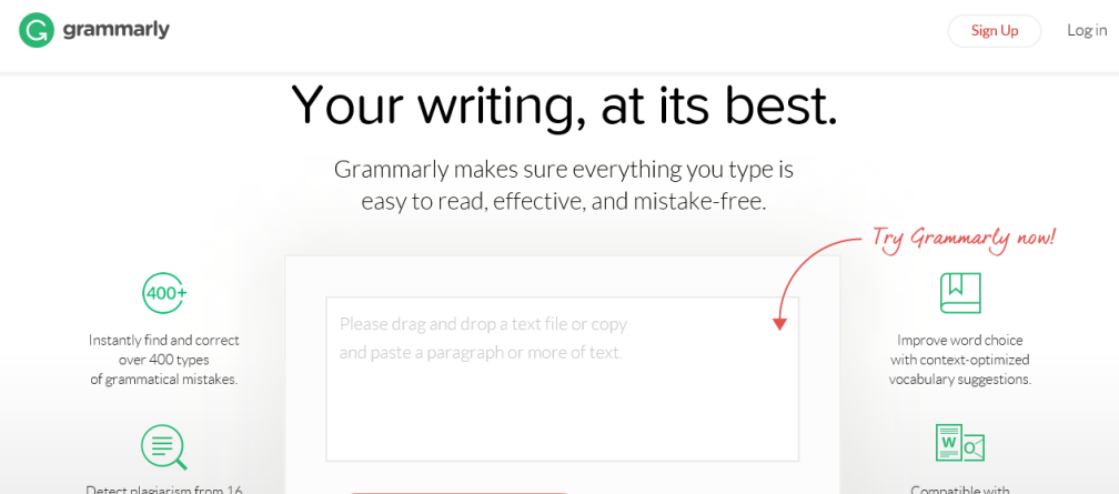 Crete Grammarly Account step 1