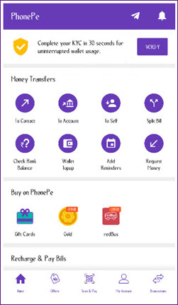 PhonePe KYC error