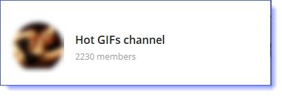 Hot gif telegram channels list