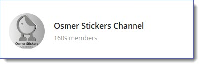 Osmer stickers channel