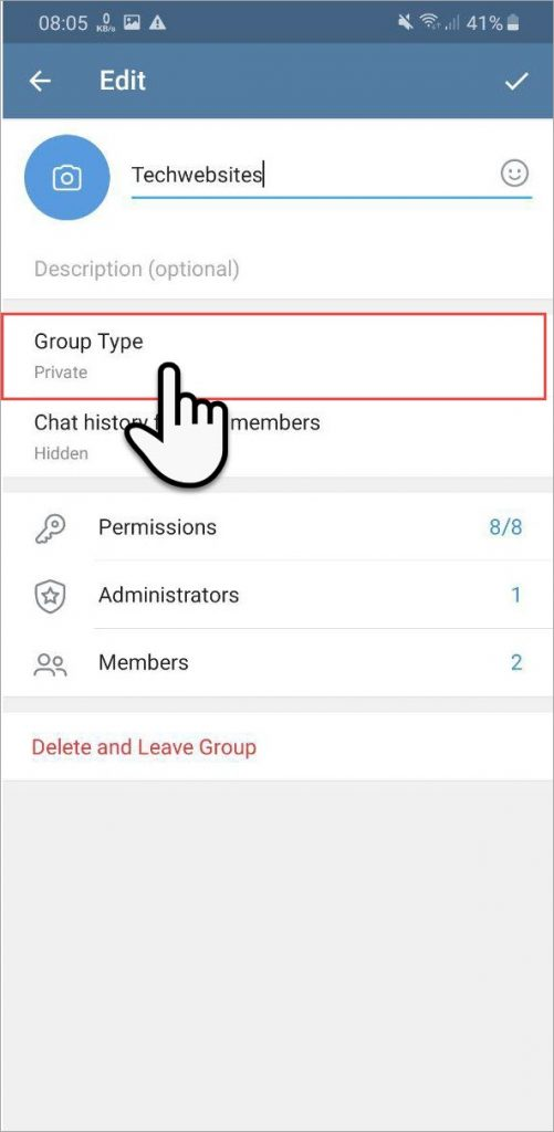 make group type Private to Public