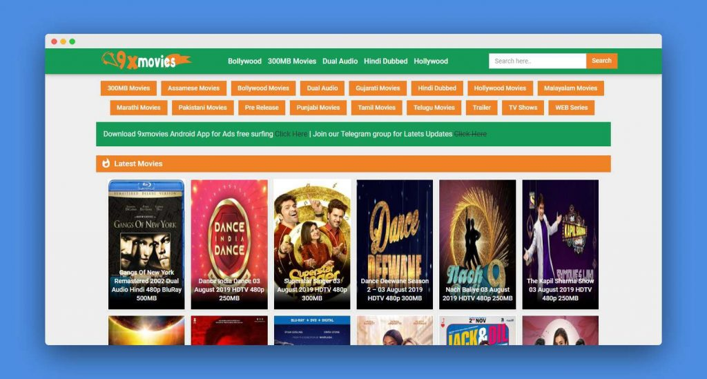 9xMovies 2019 -Download Latest Bollywood Movie & Hollywood Movie