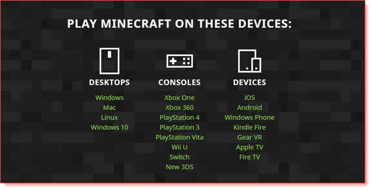 choose the correct device before installing the Minecraft launcher