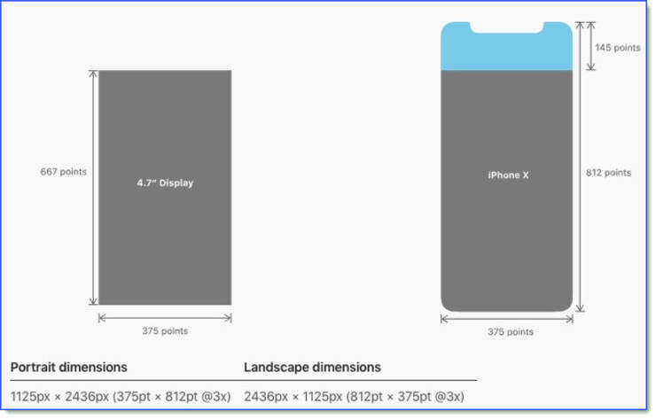 Screen Size Of Apple IPhone X